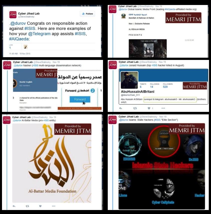 The best: islamic state-linked telegram channels
