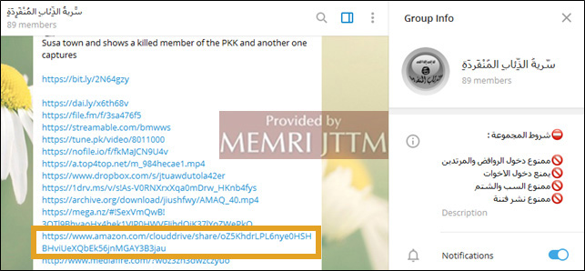 Amazon Drive Being Used To Share Terrorist Content | MEMRI JTTM