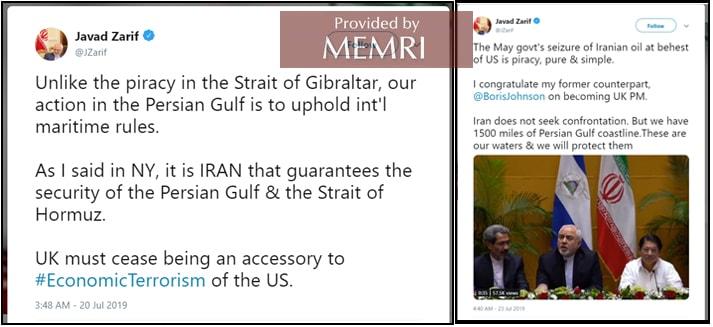 Iranian Officials: Our UK Tanker Seizure Was Legal | MEMRI