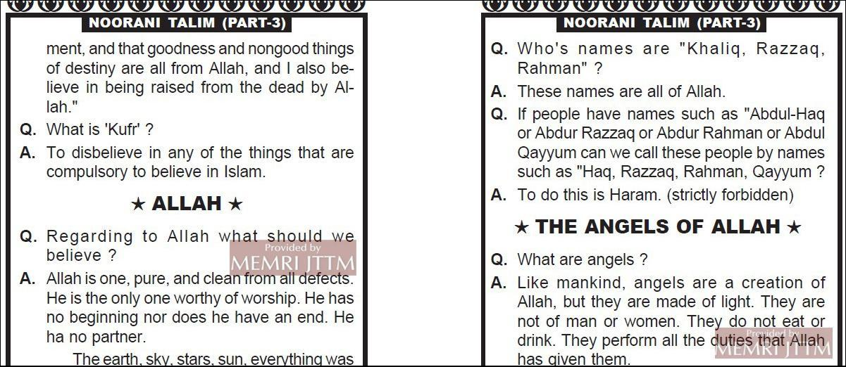 Indian Islamic Schoolbooks Teach Hate Against Polytheists And