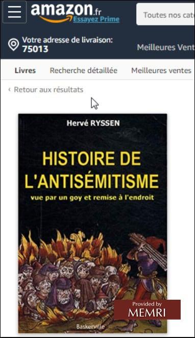 L'histoire de l'antisémitisme, d'Hervé Ryssen.