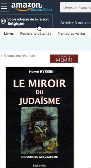 Le Miroir du Judaïsme, d'Hervé Ryssen.