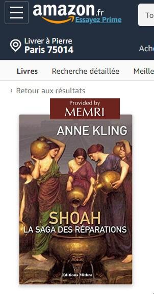 Shoah, la saga des réparations, d'Anne Kling.
