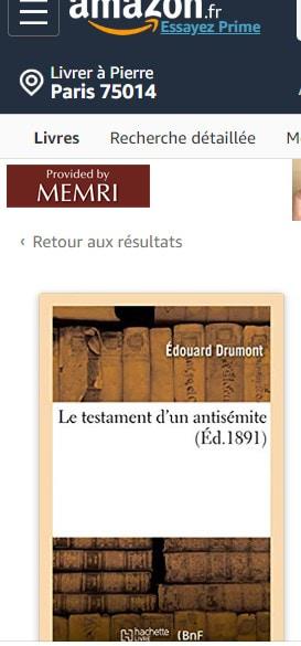 Le Testament d'un antisémite, d'Edouard Drumont.