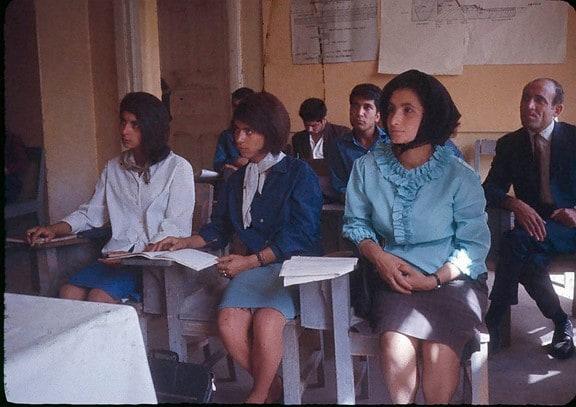 Entrenamiento de profesores en Kabul a finales de la década de los años 60