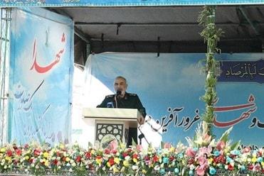 Comandante del CGRI Hossein Salami (Fuente: ISNA, Irán, 26 de julio, 2021)