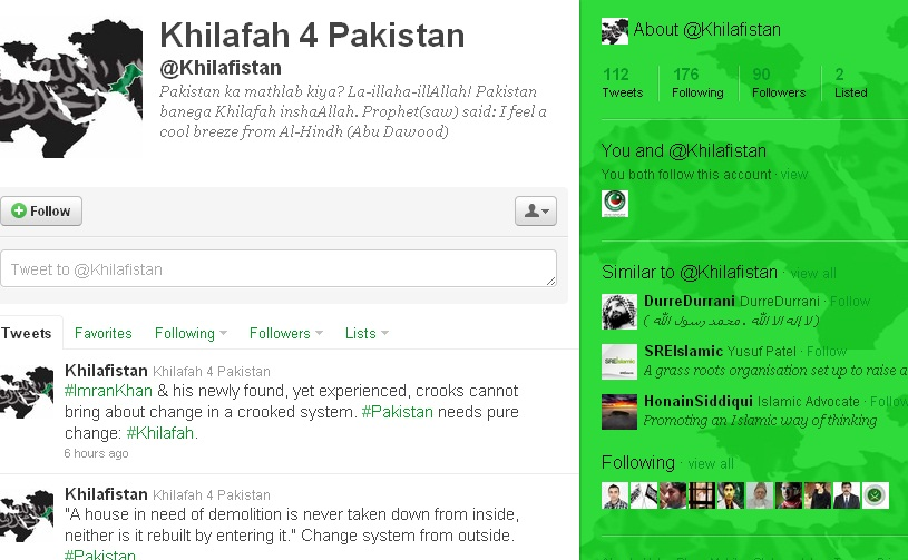 On Twitter, Jihadist Groups Advocate Establishment of Islamic Caliphate in Pakistan
