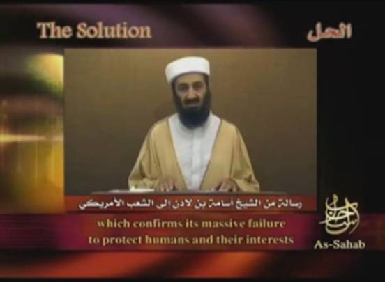 Osama Bin Laden's Video Message to the American People