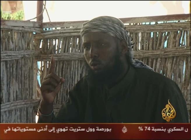 Somali Shabab Al-Mujahideen Movement Spokesman Sheikh Mukhtar Robow Vows to Continue Fighting Foreign Forces in Somalia, Says Somali Pirates 'Created by the Americans,' Calls African Peacekeeping Forces 'The Enemies of Allah'