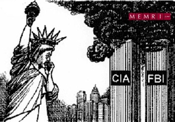 From the MEMRI 9/11 Documentation Project: Cartoons On 9/11