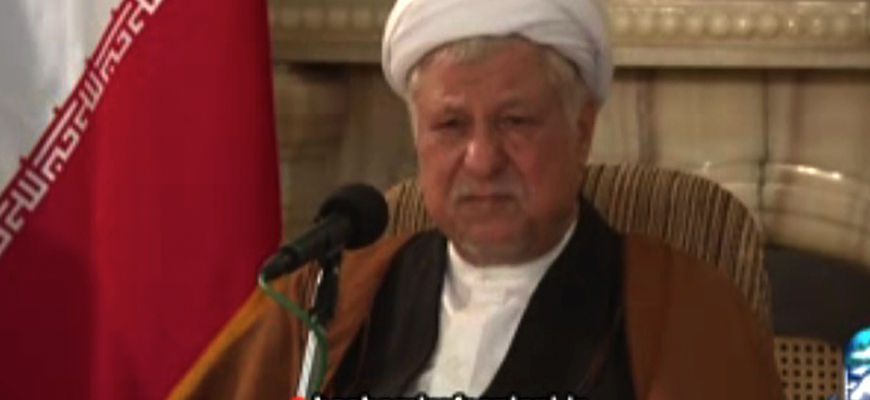 Rafsanjani, Hinting At Khamenei, Says: When I Realized That My Partners In The Islamic Revolution Had Become Heretics And Strayed From It, I Withdrew My Support Of Them; He Protests Against Regime's Oppression Of Its Citizens; Khamenei Says: The Stre