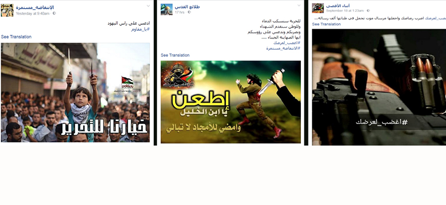 Wave Of Incitement On Palestinian Social Media Pages Following Recent Spike In Attacks On Israelis