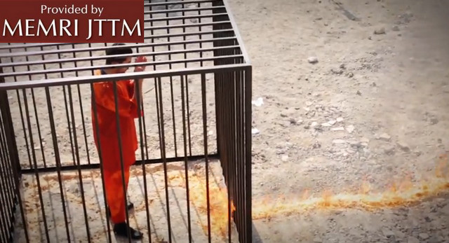 WARNING – GRAPHIC: Video Shows Islamic State (ISIS) Execute Captured Jordanian Pilot By Burning Him Alive