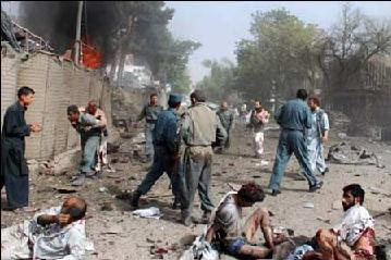 Scene Of Attack On Indian Embassy In Kabul That Killed 41 People