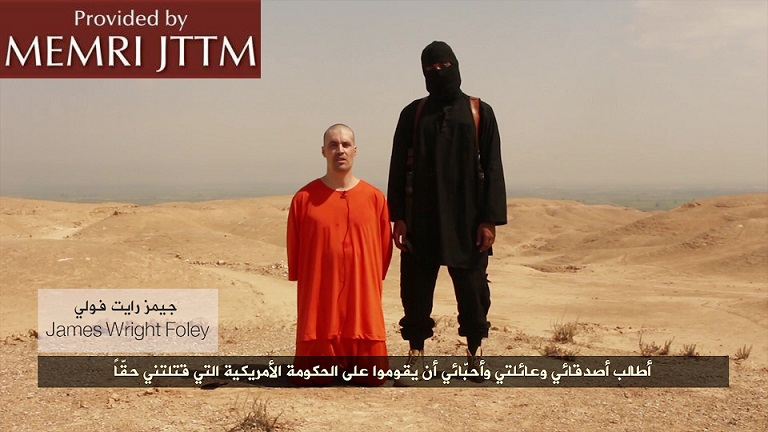 Islamic State (IS) Releases Video Showing American Photojournalist James Wright Foley Beheaded By Man With British Accent, Threatens To Behead Second American Hostage Steven Sotloff If U.S. Attacks Against It Continue