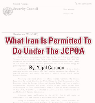 What Iran Is Permitted To Do Under The JCPOA