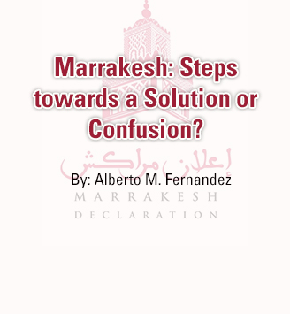 Marrakesh: Steps Towards A Solution Or Confusion?