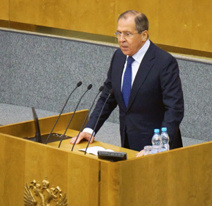 Russian Foreign Minister Lavrov Addressing State Duma: 'The U.S. And Its Allies Are Trying To Create A Deterrence Front Against Russia Based On Cold War Precepts'