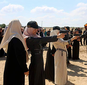 Wives, Daughters Of Senior Hamas Officials In Gaza Undergo Official Self-Defense And Weapons Training