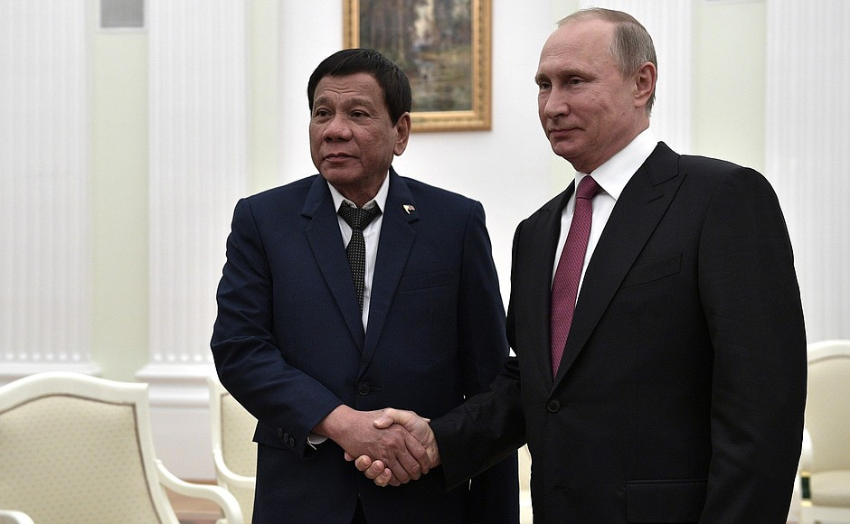 Description: Putin Meeting with Philippine President Rodrigo Duterte.