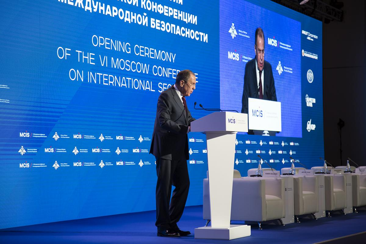 Lavrov at International Security Conference