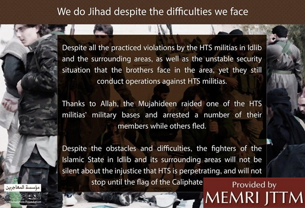 Pro-ISIS Media Outlet Warns Foreign Fighters Syrian Refugee Camps Run By Intelligence Agencies Hostile To ISIS
