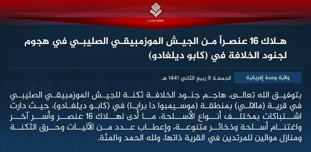 ISIS Claims Attack On Mozambican Military Barracks That Killed 16 Soldiers In Cabo Delgado Province