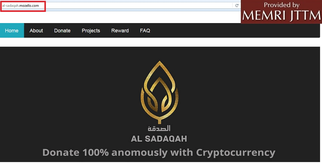 Al-Sadaqah Organization Launches Website, Promotes ‎Use Of Bitcoin, Other Cryptocurrencies To 'Sponsor' Mujahideen, ‎Purchase Weapons In Syria