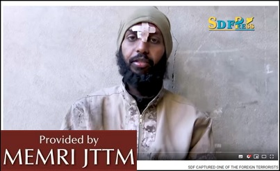 Pro-ISIS Media Outlet Announces Arrest Of Canadian ISIS ‎Media Operative By Kurdish Forces ‎