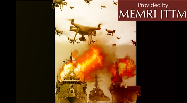 Poster On Pro-Al-Qaeda Magazine Shows Drones Attacking Warships