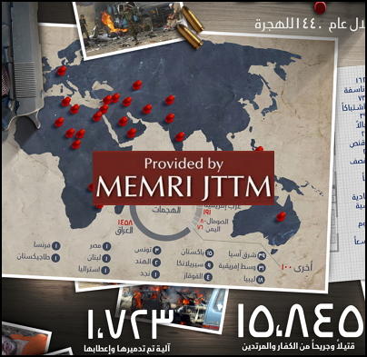 ISIS Infographic On Its Operations Over The Last Year Claims 3,665 Attacks, 15,845 Enemies Killed And Wounded