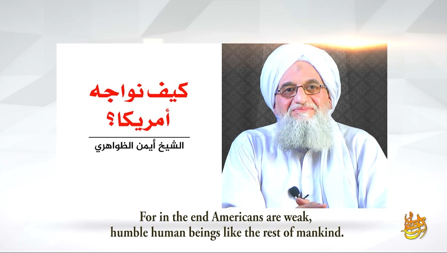On 17th Anniversary Of 9/11, Al-Qaeda Leader Ayman Al-‎Zawahiri Calls Upon Muslims To Unite In Battle Against ‎U.S. To 'Bleed It To Death Economically And Militarily'‎