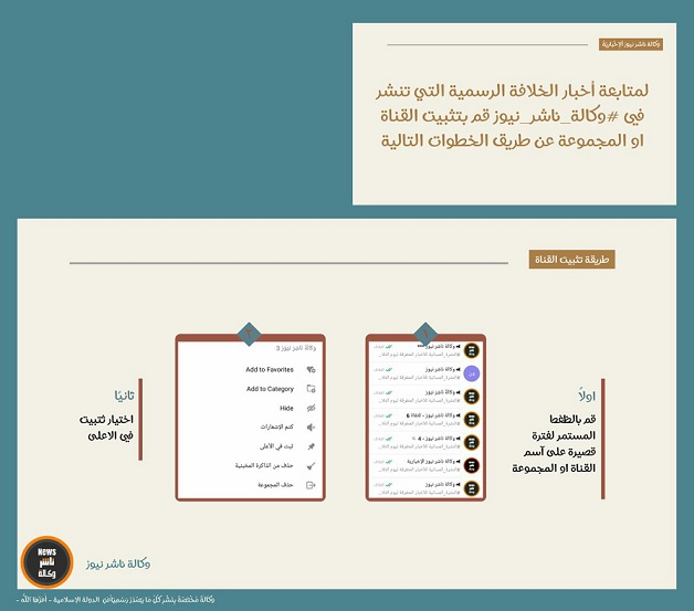 Rating: isis-affiliated telegram channels