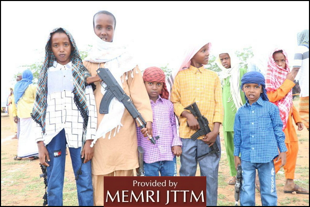 Al-Shabab Releases Photos Of Crowds At Eid Al-Adha Prayers, Including Children Carrying Mock Weapons