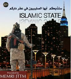 ISIS Supporters Publish Posters Threatening NYC, Australia, Christians, And Celebrating California Fires
