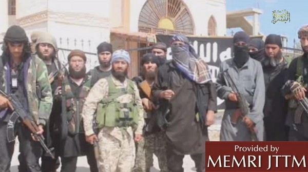 Video Shows Fighters in ISIS New Hauran Province Swearing Allegiance To Abu Bakr Al-Baghdadi