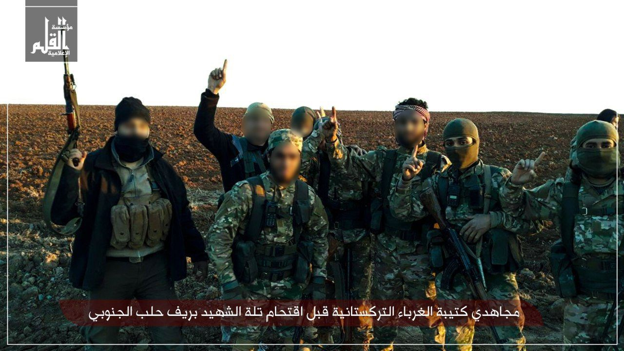 Telegram Channel Of Uyghur Group In Syria Posts Photos Of Fighters Prior To Attack