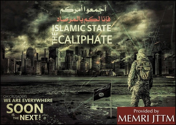 Recent Pro-ISIS Posters Distributed On Telegram: Threats To Paris, New York