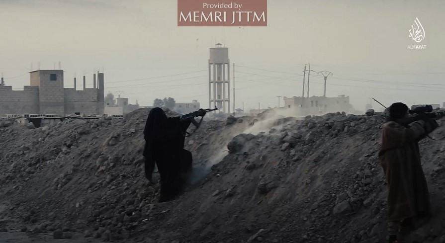 ISIS Video Presents Women Fighting On The Battlefront – With The Aim Of Motivating Men To Join The Weakened Organization