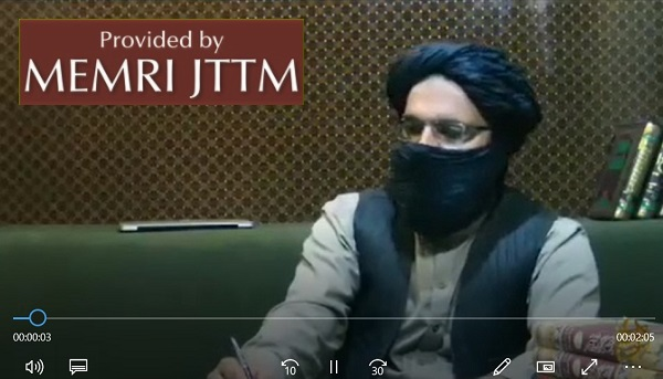 In Video Shared On Telegram, Al-Qaeda In The Indian Subcontinent (AQIS) Spokesman Usama Mehmood Says Pakistan Army 'Stabbed A Sword In The Back Of Kashmir Jihad'