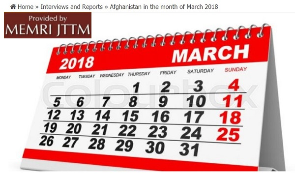 Afghan Taliban Website Lists Attacks On Foreign Troops In March 2018