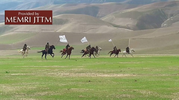 Photos Released On Twitter Show Afghan Taliban Fighters Training On Horseback