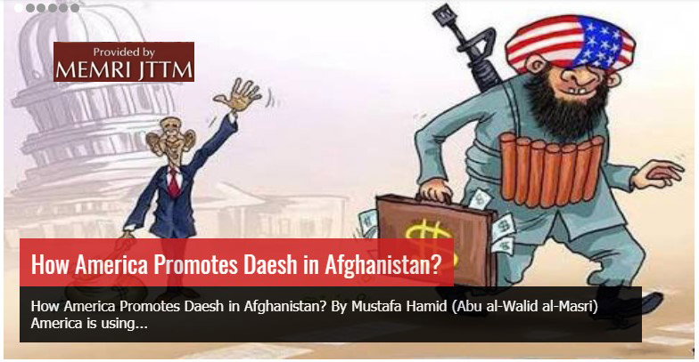 Afghan Taliban Accuse U.S. Of Promoting ISIS In Afghanistan: 'America Is Using Daesh [ISIS] To Repeat Its Experience In El Salvador With The Death Squads'