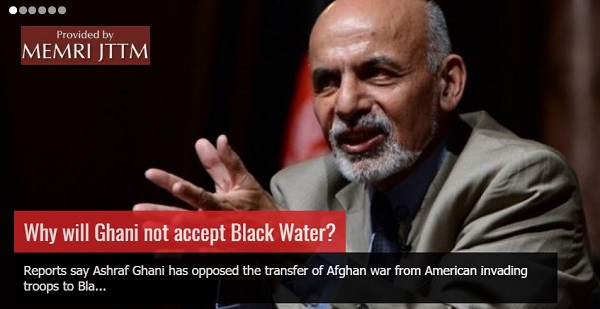 Afghan Taliban Allege Ulterior Motives In Afghan President's Opposition To Blackwater