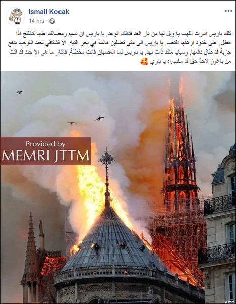 Jihadis Celebrate Notre Dame Cathedral Fire, Dub It A Punishment And Good Omen