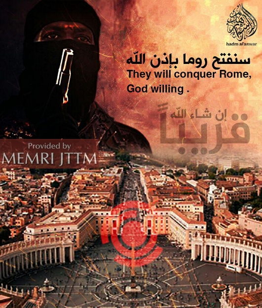 ISIS Supporters Distribute Posters Threatening Rome, London