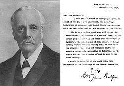 Description: https://upload.wikimedia.org/wikipedia/commons/thumb/c/cd/Balfour_portrait_and_declaration.JPG/250px-Balfour_portrait_and_declaration.JPG