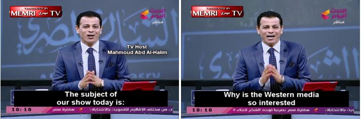 Mahmoud Abd Al Halim The Subject Of Our Show Today Is Why Western Media So Interested In Issue Atheists And Homosexuals Arab