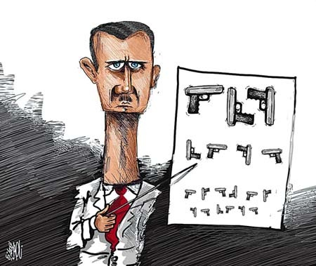 Syrian Uprising and President Assad Depicted in Cartoons