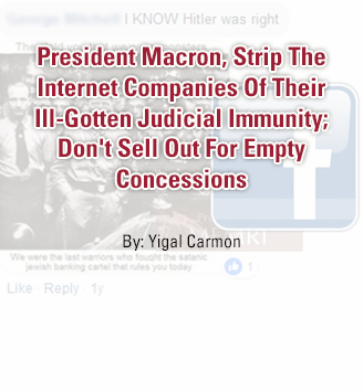 President Macron, Strip The Internet Companies Of Their Ill-Gotten Judicial Immunity; Don't Sell Out For Empty Concessions